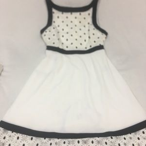 Modcloth Black and White Dress Lace Flowers